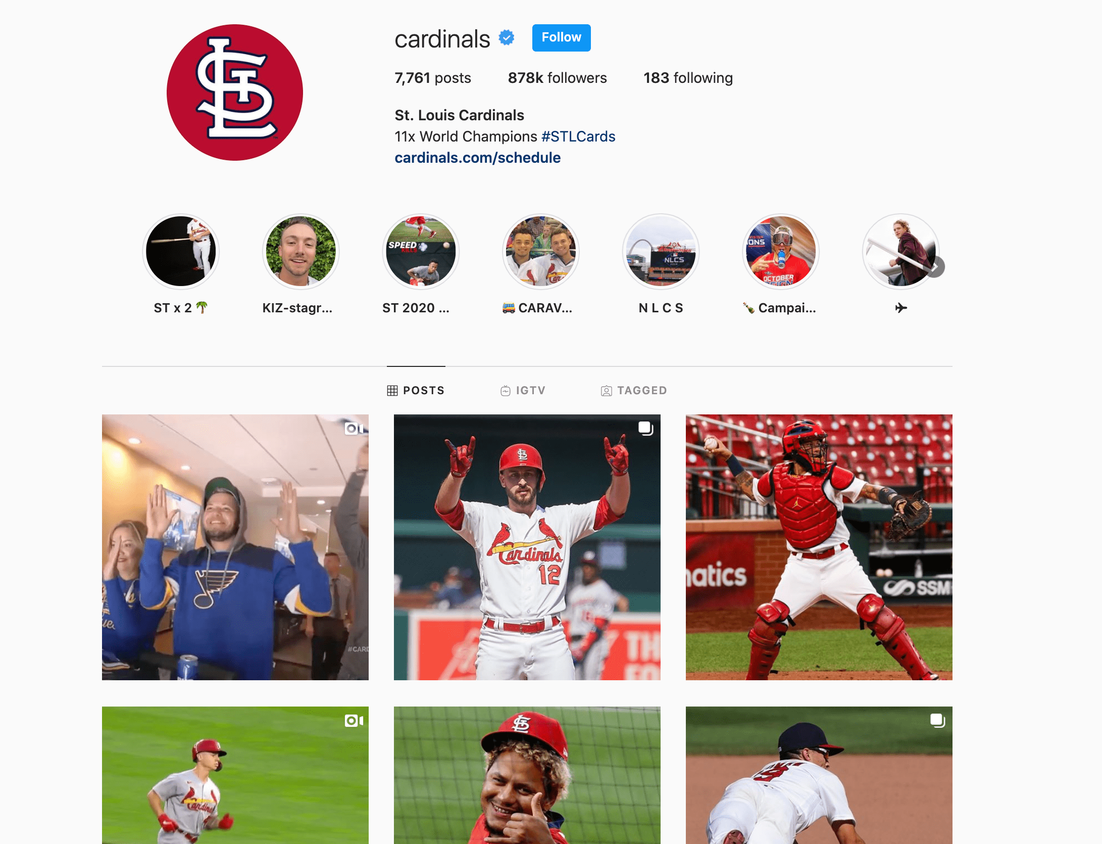 st.louis cardinals instagram