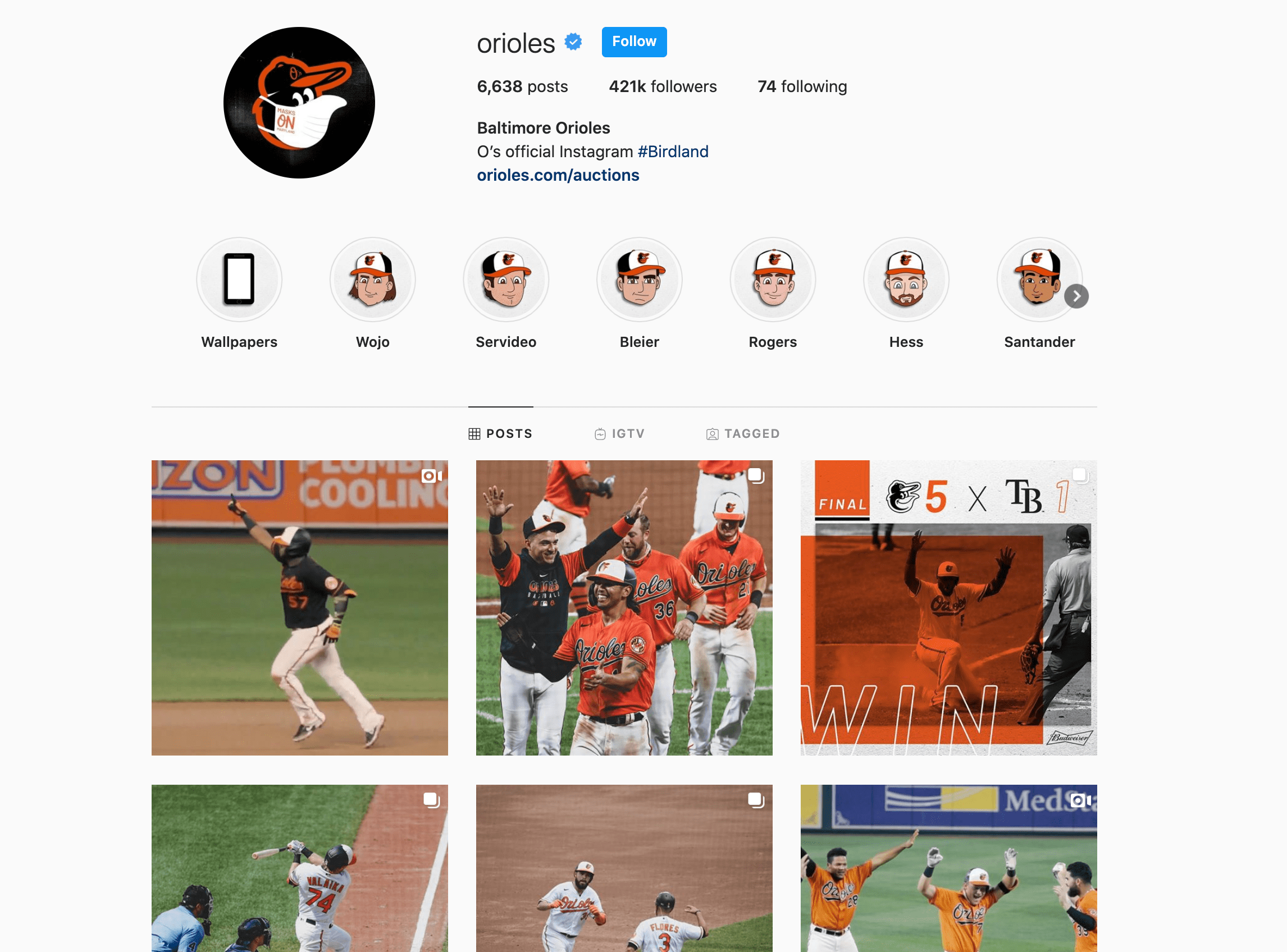baltimore orioles instagram