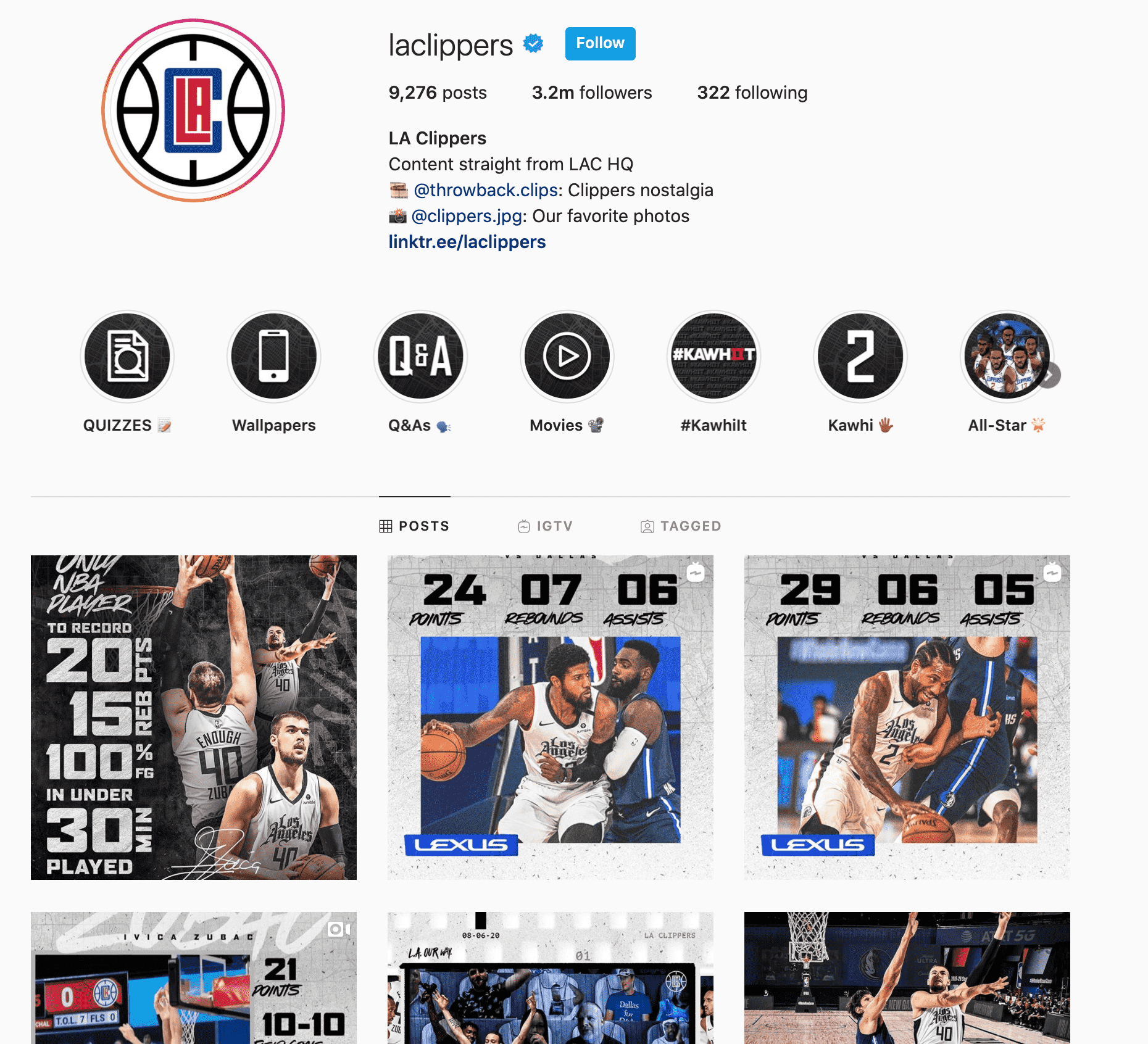 la clippers instagram