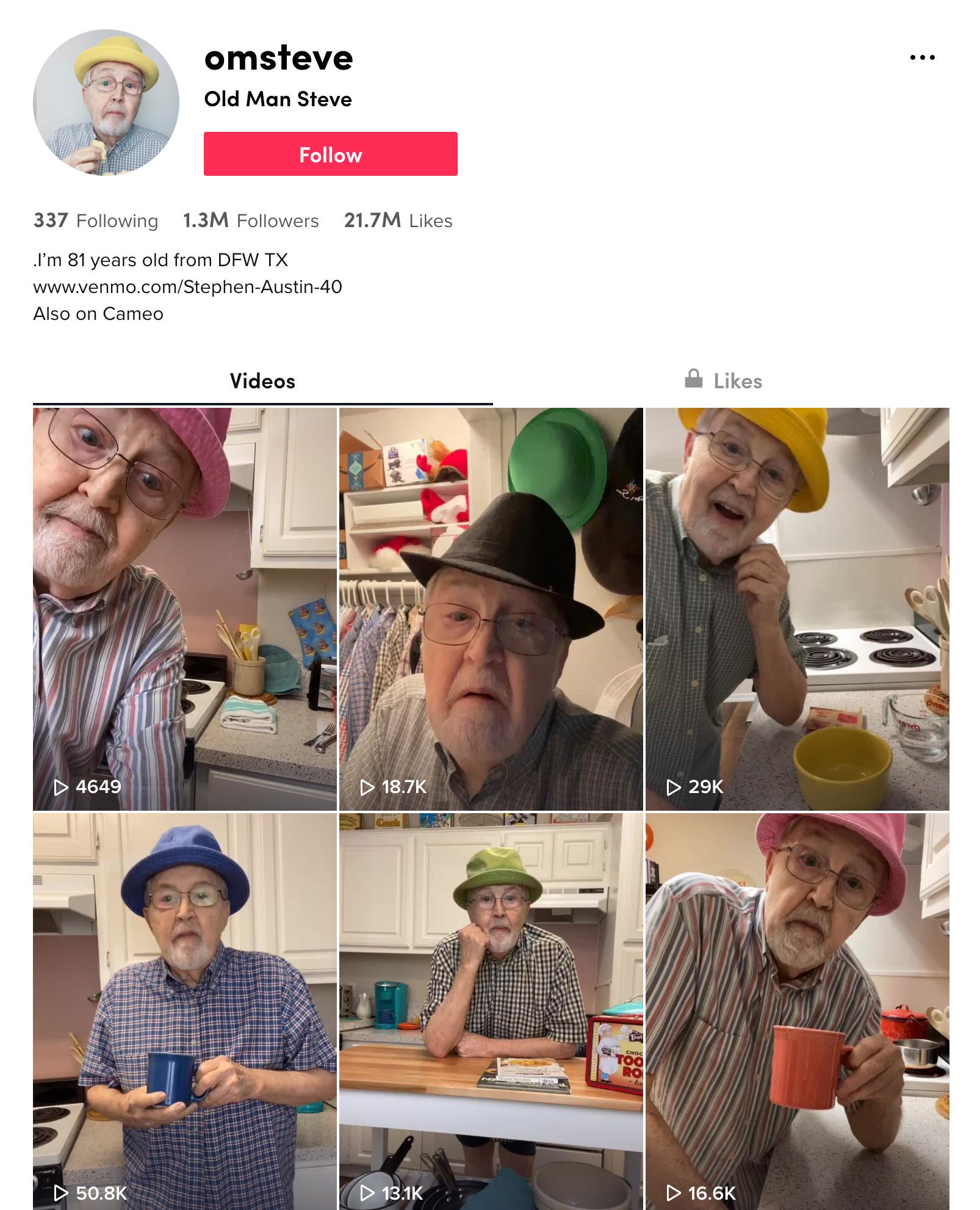 Old Man Steve TikTok Profile