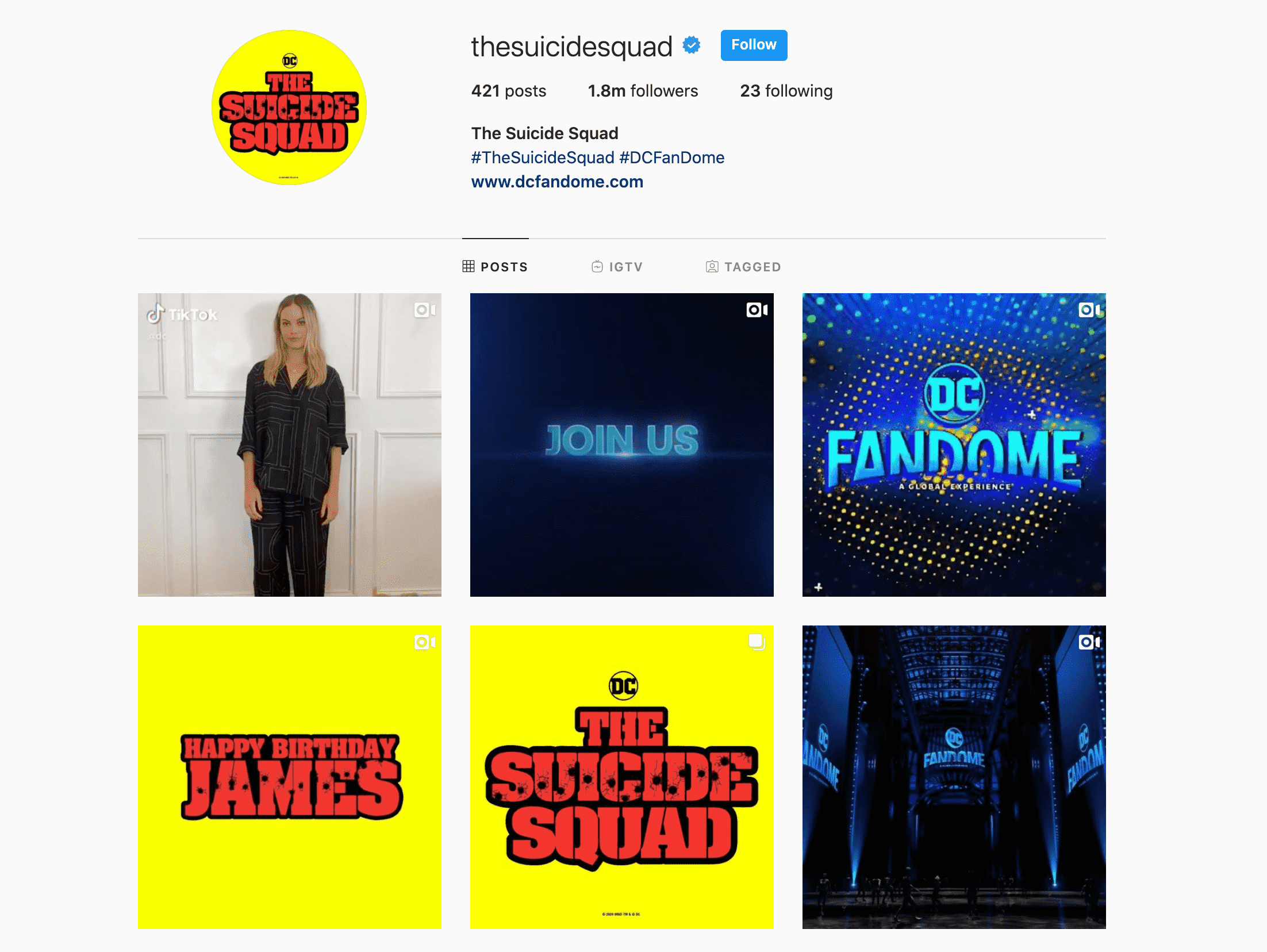 suicide squad instagram
