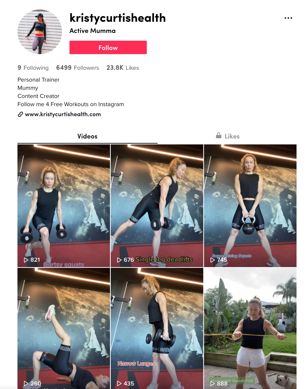 Kristy Curtis TikTok Profile