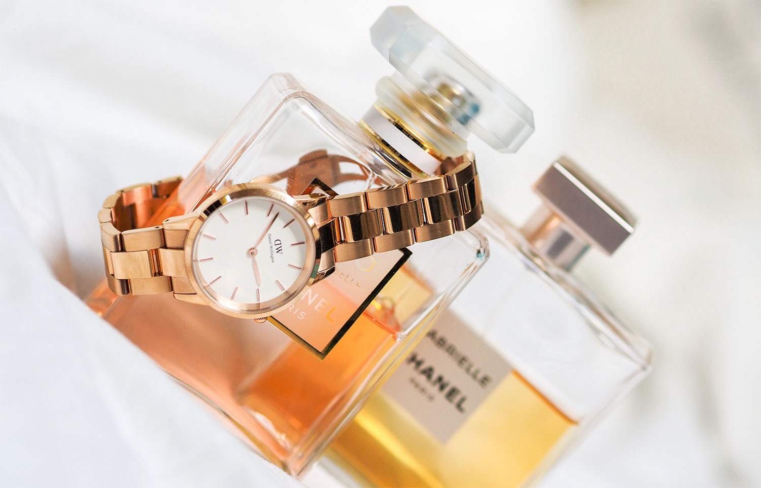 watch and cologne product shot