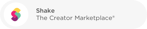 Shake - The Creator marketplace