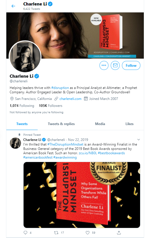 Charlene Li business influencers and thought leaders