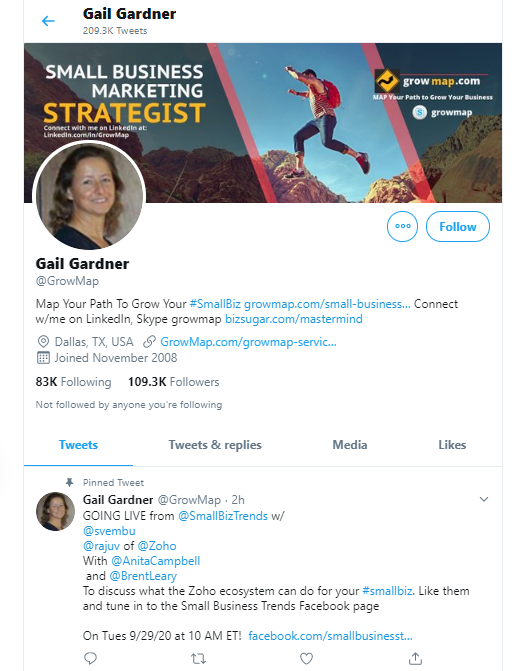 Gail Gardner business influencers and thought leaders