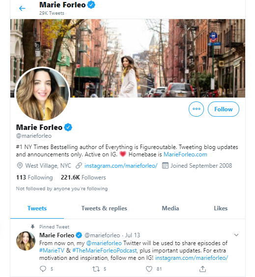 Marie Forleo business influencers and thought leaders