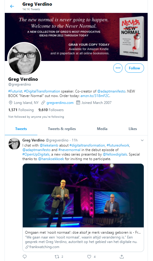 Greg Verdino business influencers and thought leaders