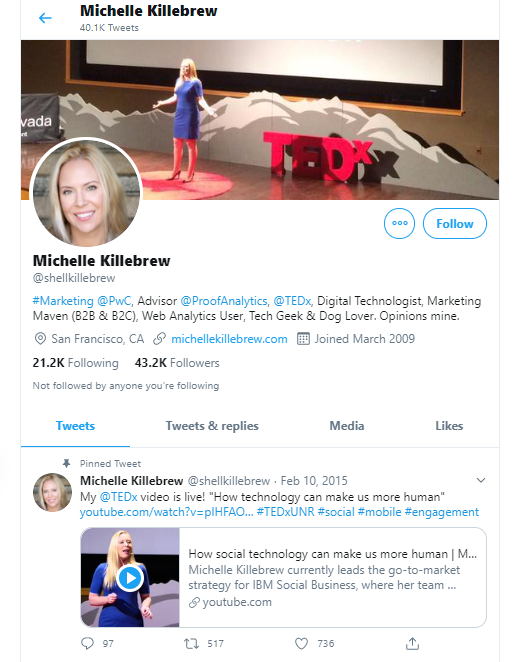 Michelle Killebrew business influencers and thought leaders