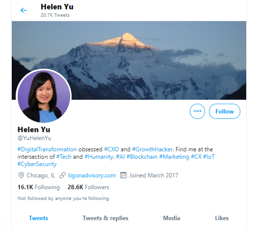 Helen Yu business influencers and thought leaders