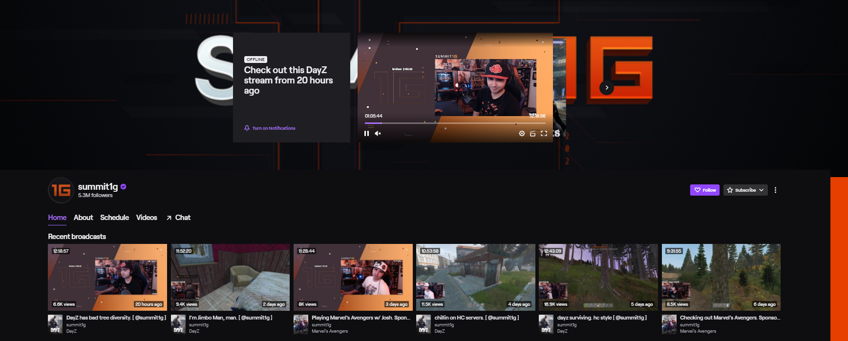 Summit1G top twitch streamers
