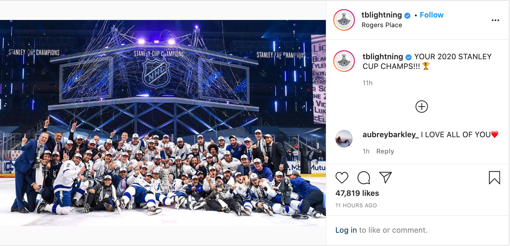 tampa bay lightning insta 1
