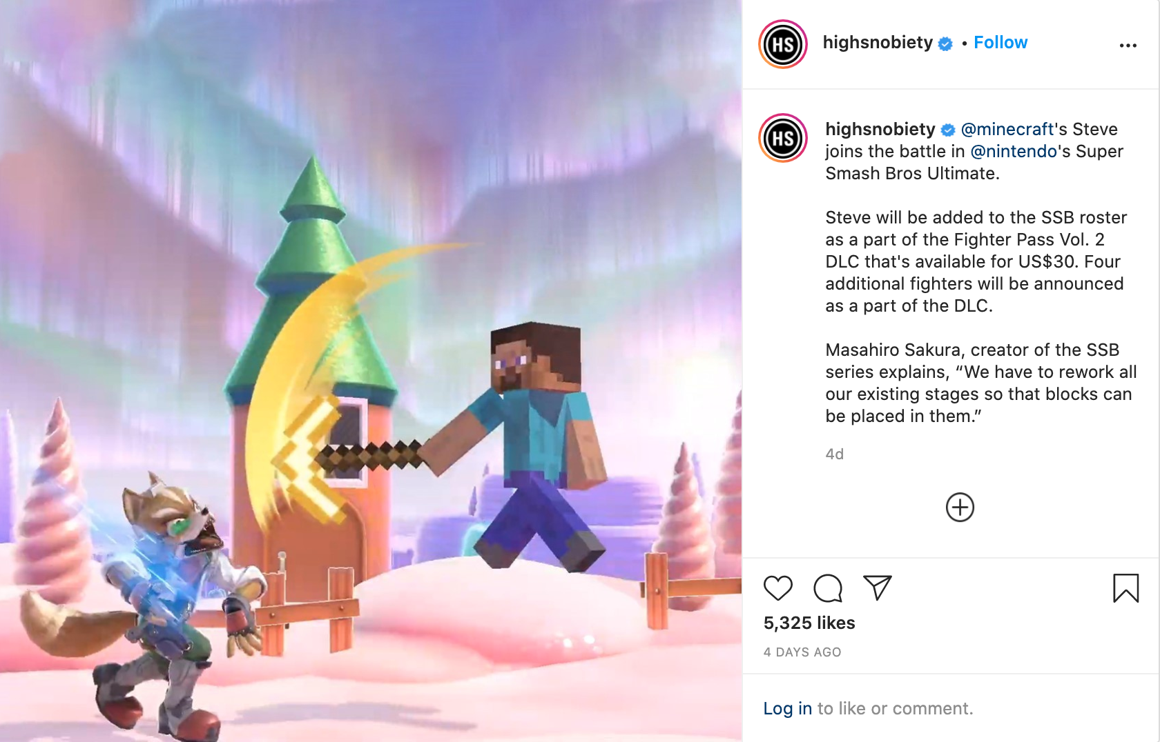 Super Smash Bros Insta Post 1