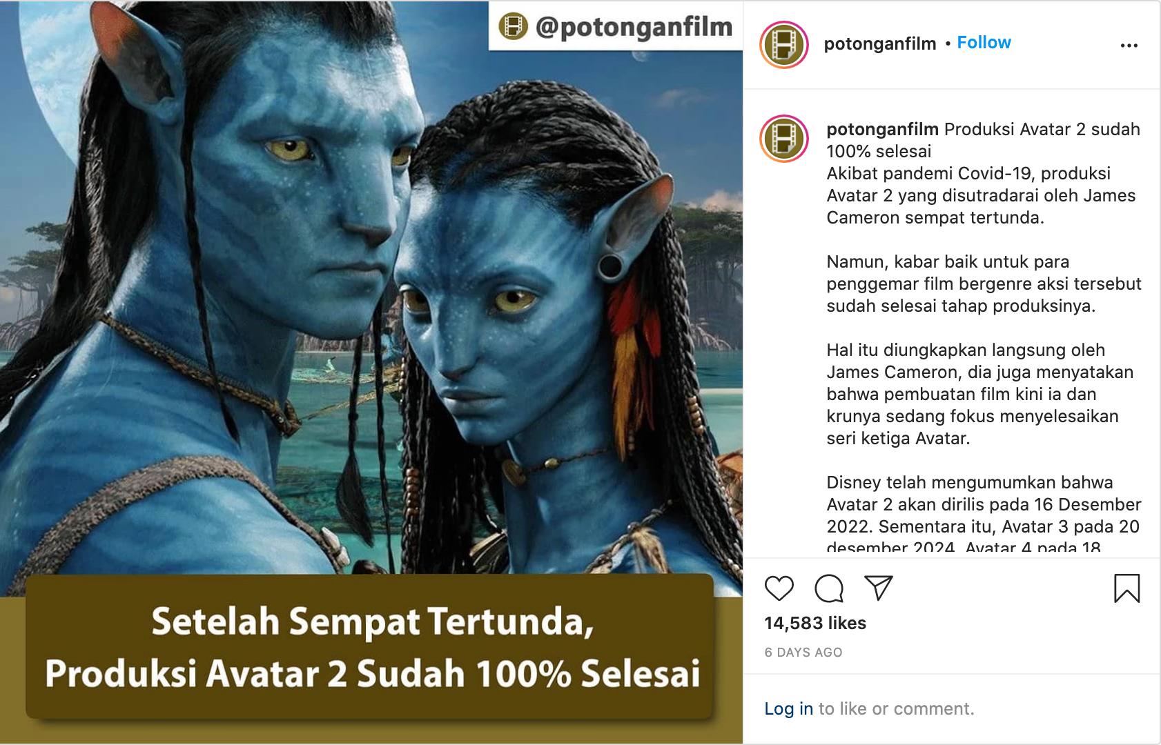 Avatar Insta Post 2