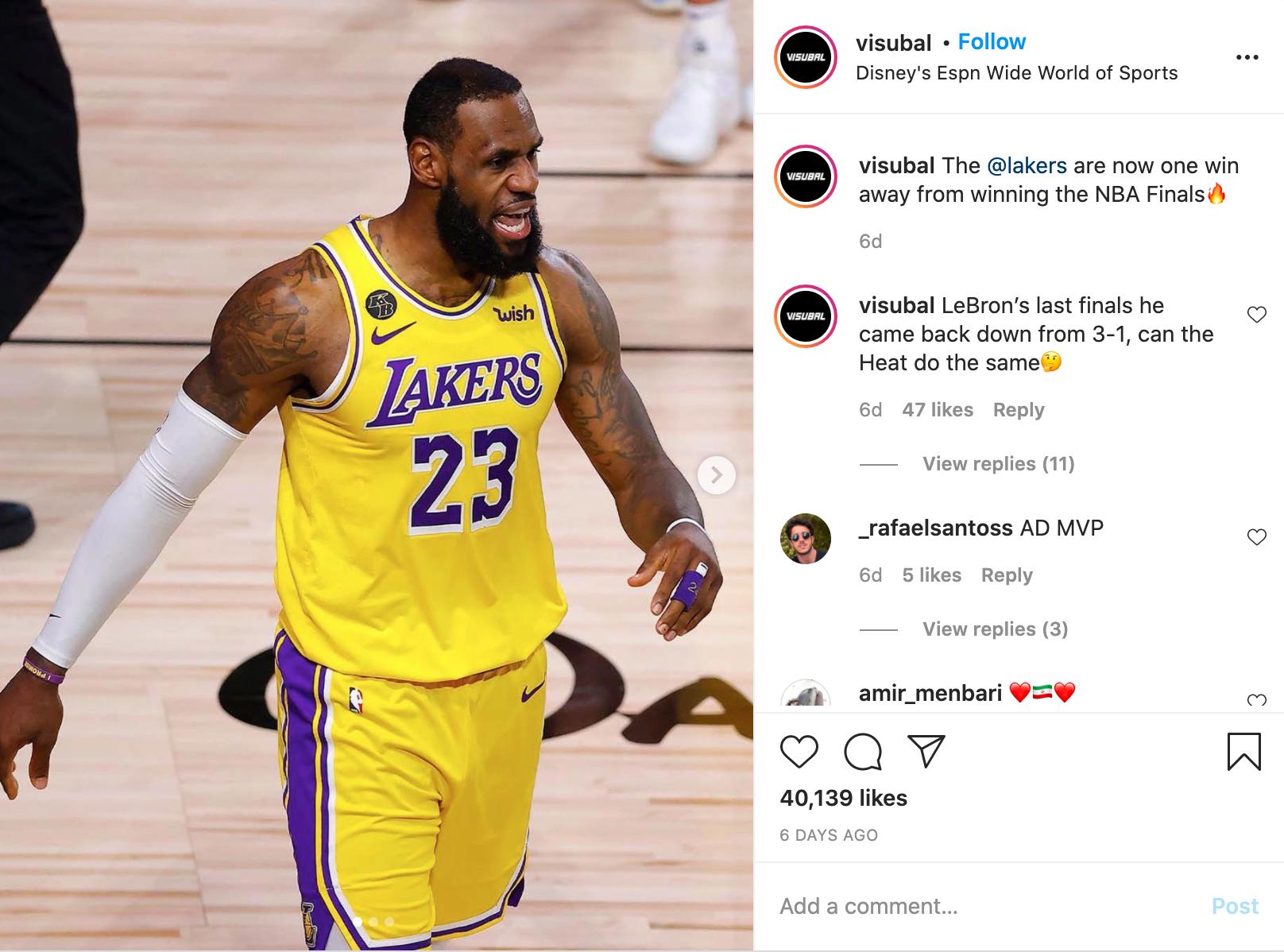 Lakers Insta Post 1