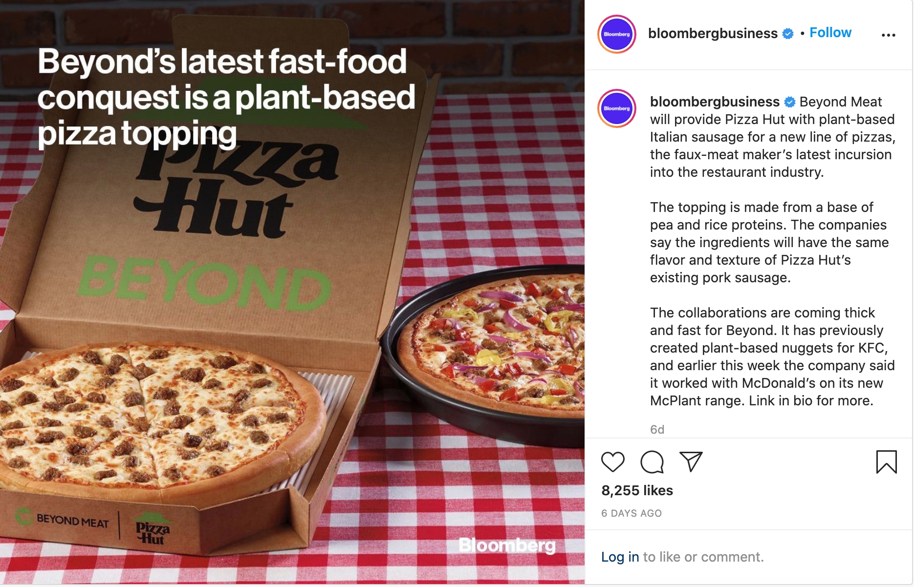 Beyond Meat Insta Post 1