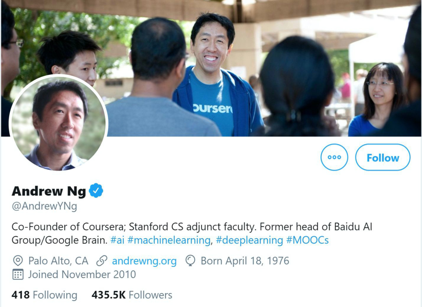 andrew ng twitter influencer