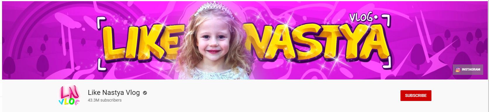 like nastya youtube