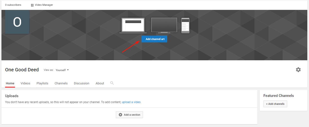 add channel art youtube