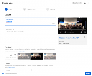 upload video details youtube