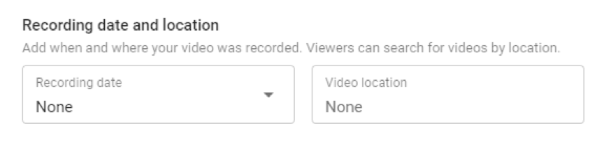 recording date youtube