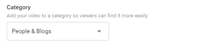 category youtube