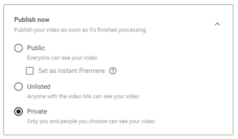 private youtube