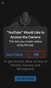 camera access youtube