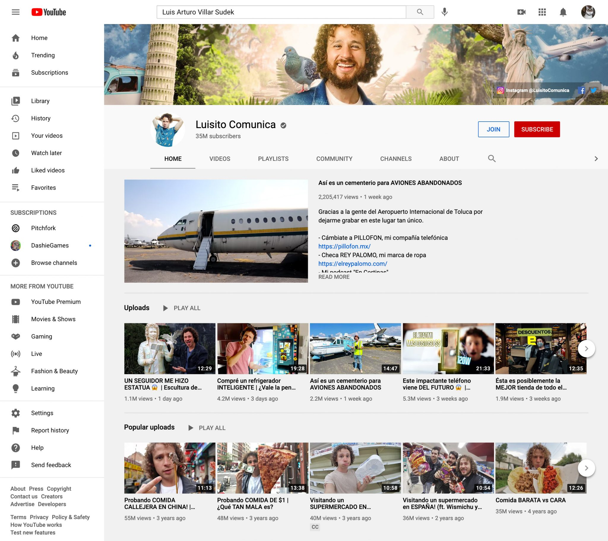 luisto comunica youtube influencer page