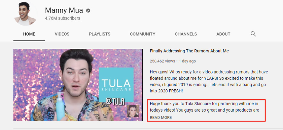 tula skincare youtube ad
