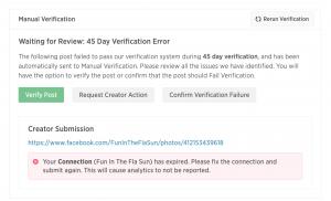 IZEA manual verification
