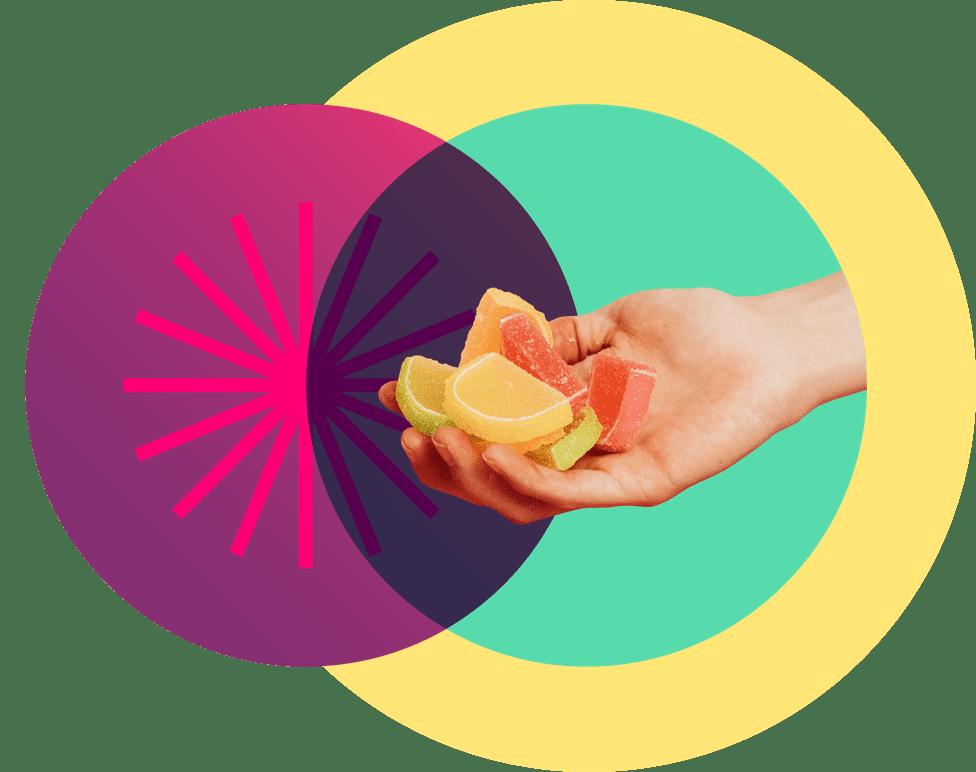 circles citrus hand