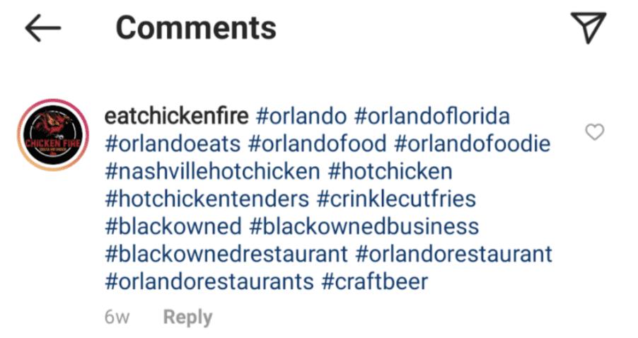 Instagram Post Hashtags