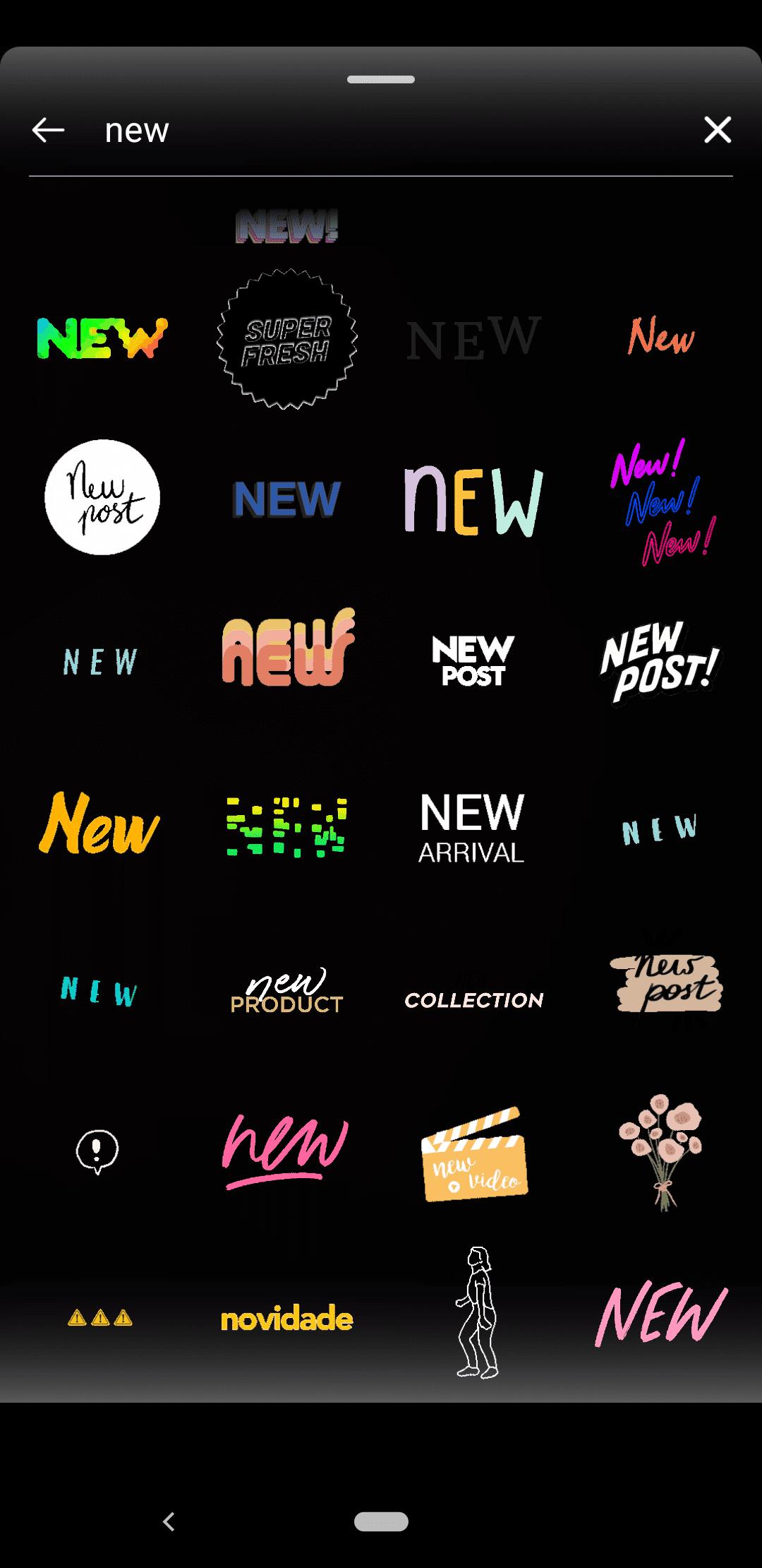 Instagram Stories GIF stickers