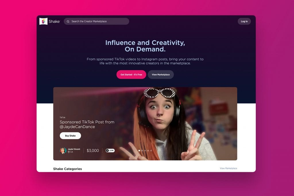 Shake Homepage Redesign