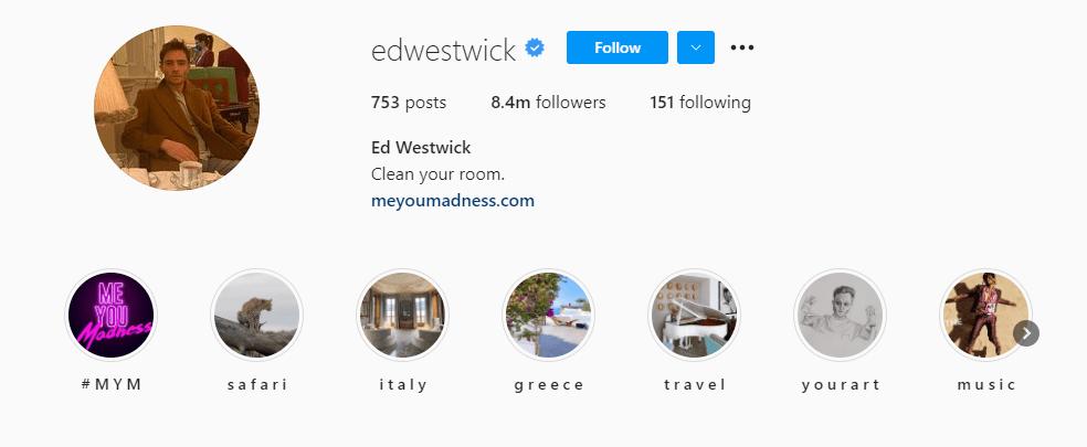 top millennial influencer ed westwick