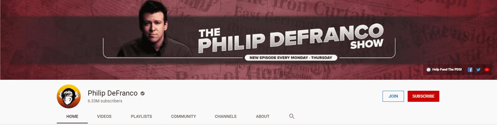 top millennial influencer philip defranco