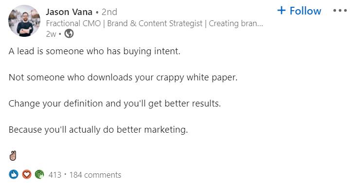 Linkedin Influencer Thought Leadership