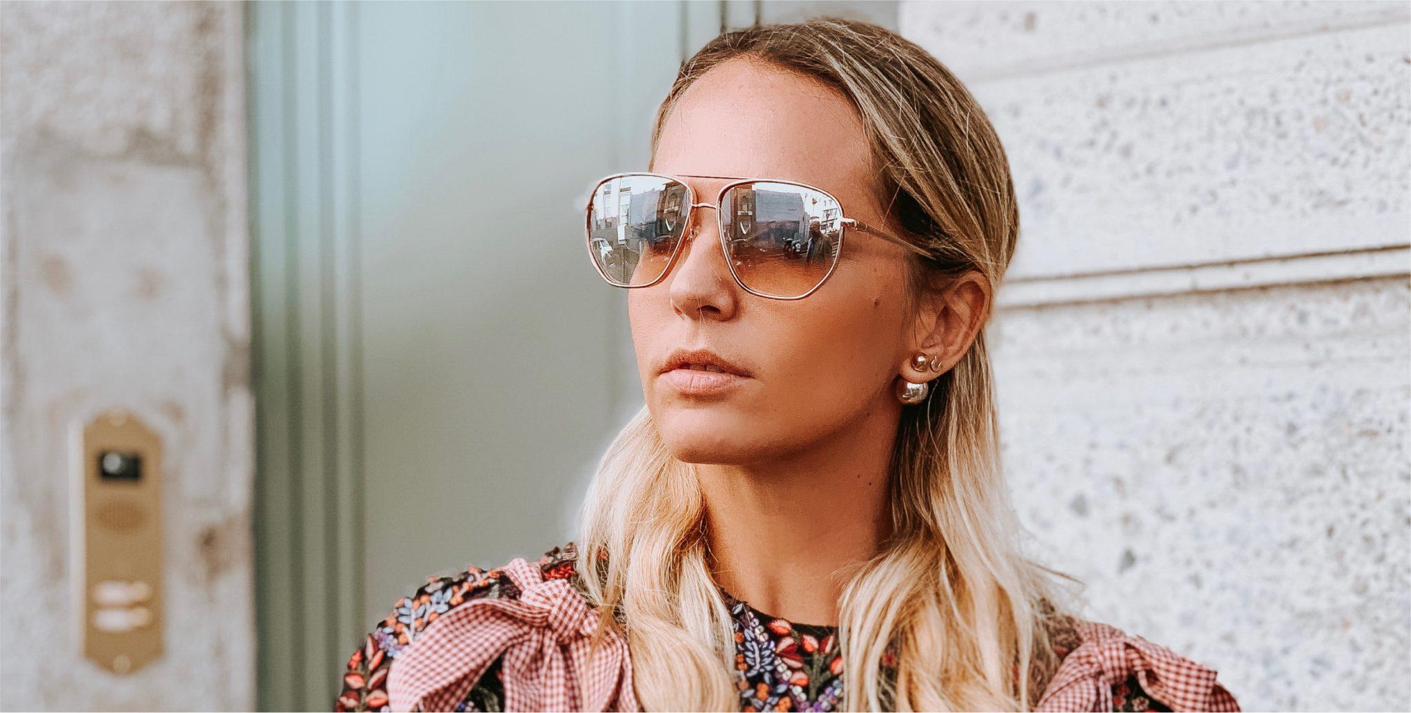 virginia influencer guess sunglasses