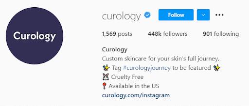 Curology Instagram Bio
