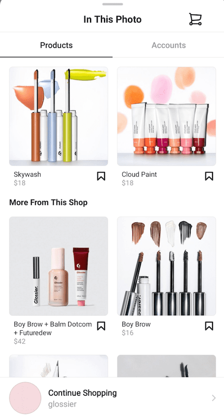 Instagram Shopping In This Photo