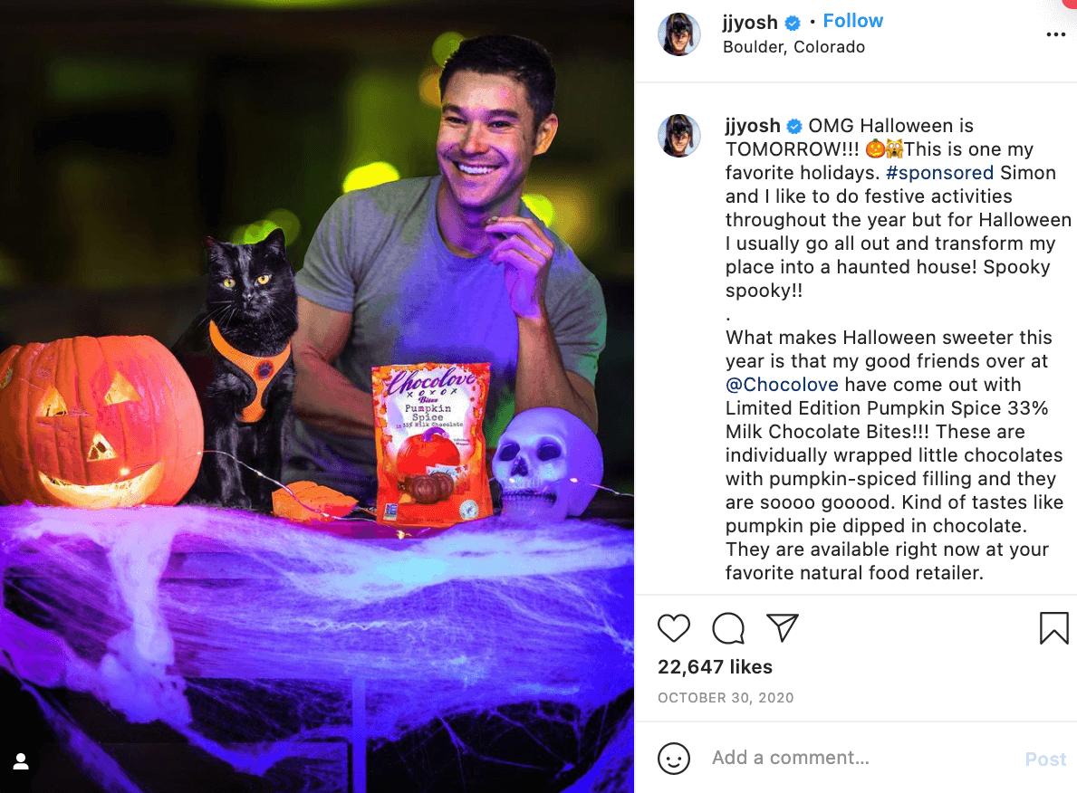 Halloween Influencer Instagram Candy Post