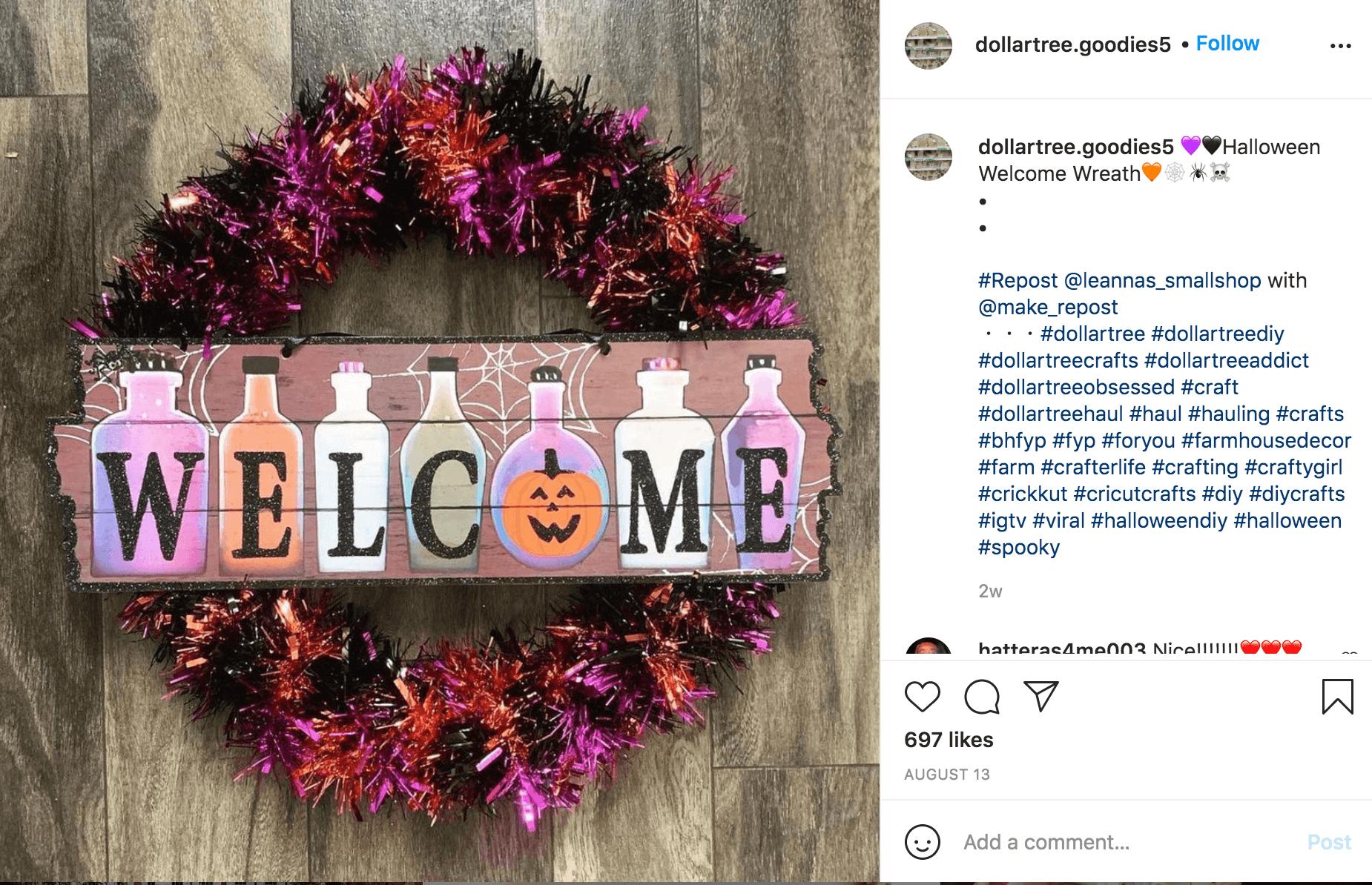 Halloween Influencer Instagram DIY Post