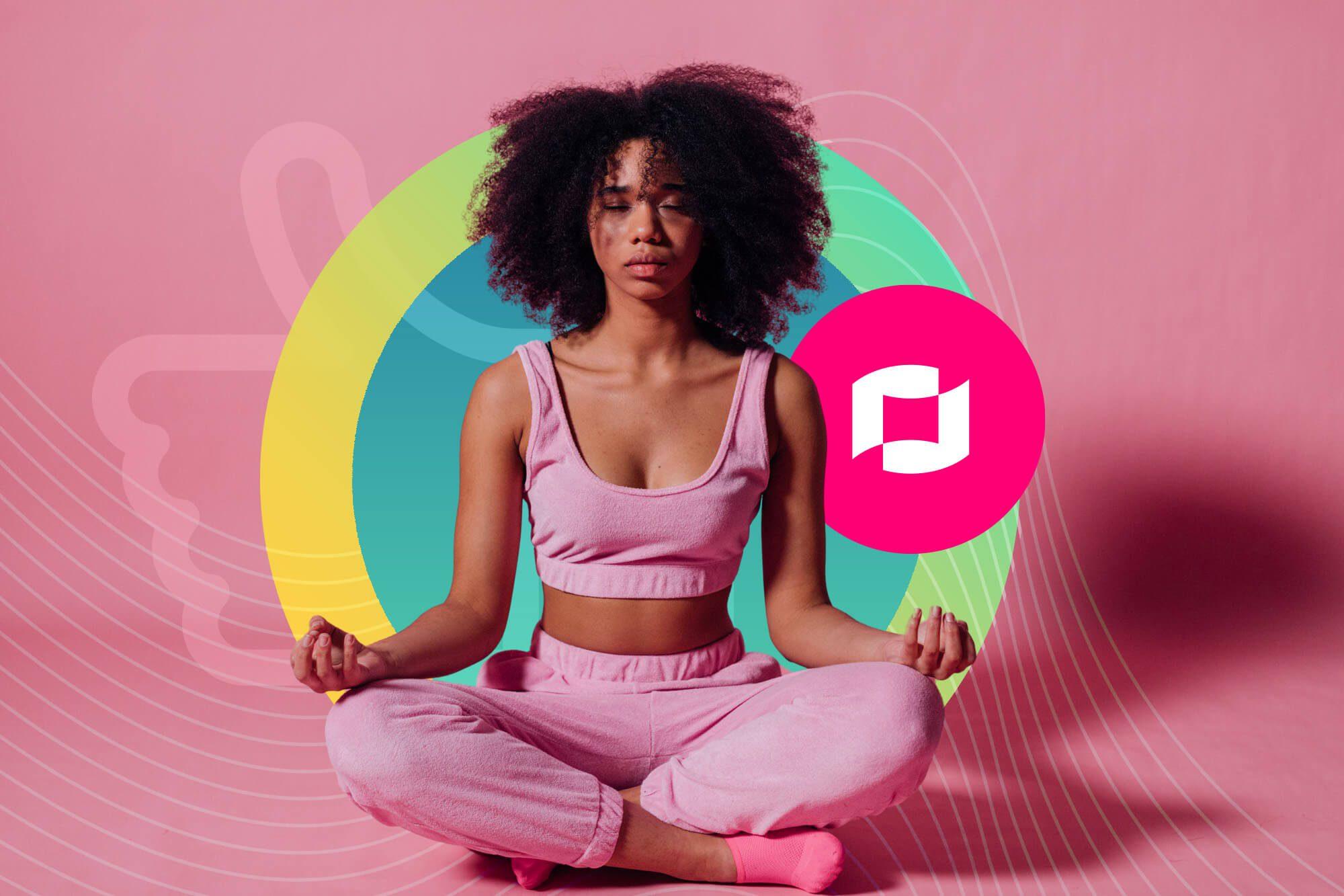 Wellness Influencer Meditating