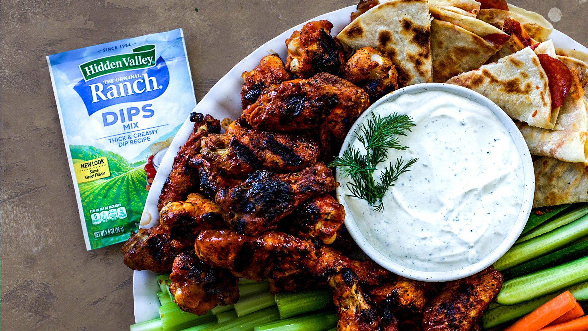 ranch dips chicken wings