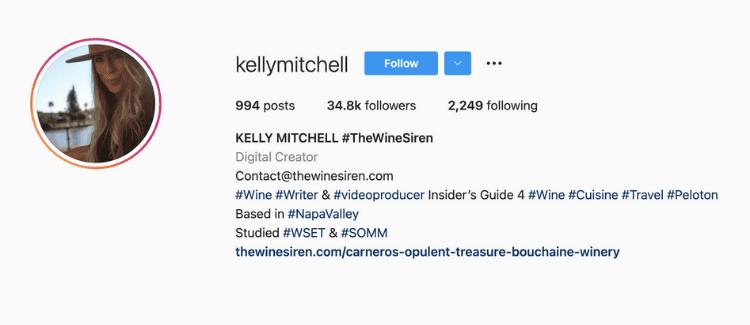 Kelly Mitchell Instagram Wine Influencer