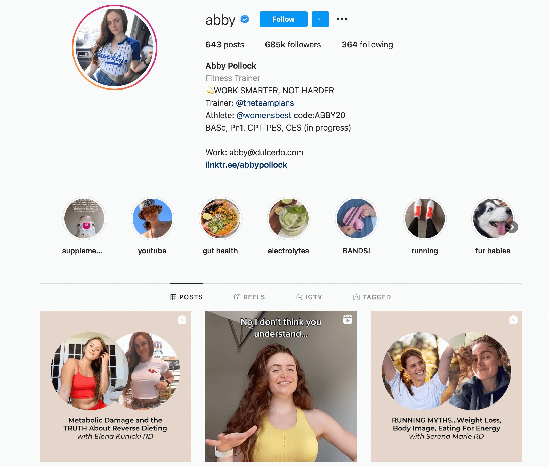 Abby Pollock Instagram Profile