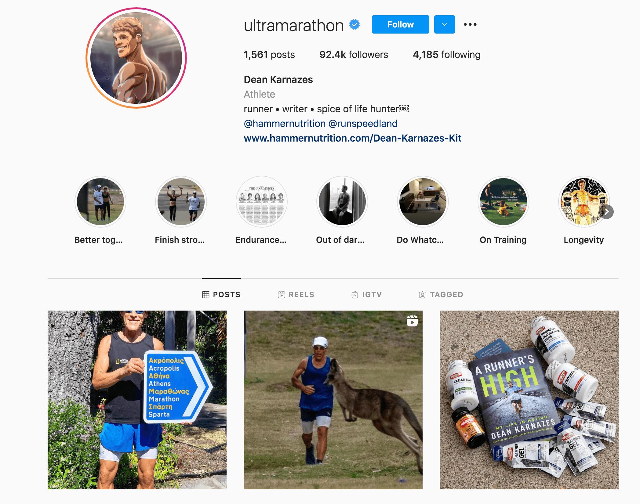 Dean Karnazes Instagram Profile