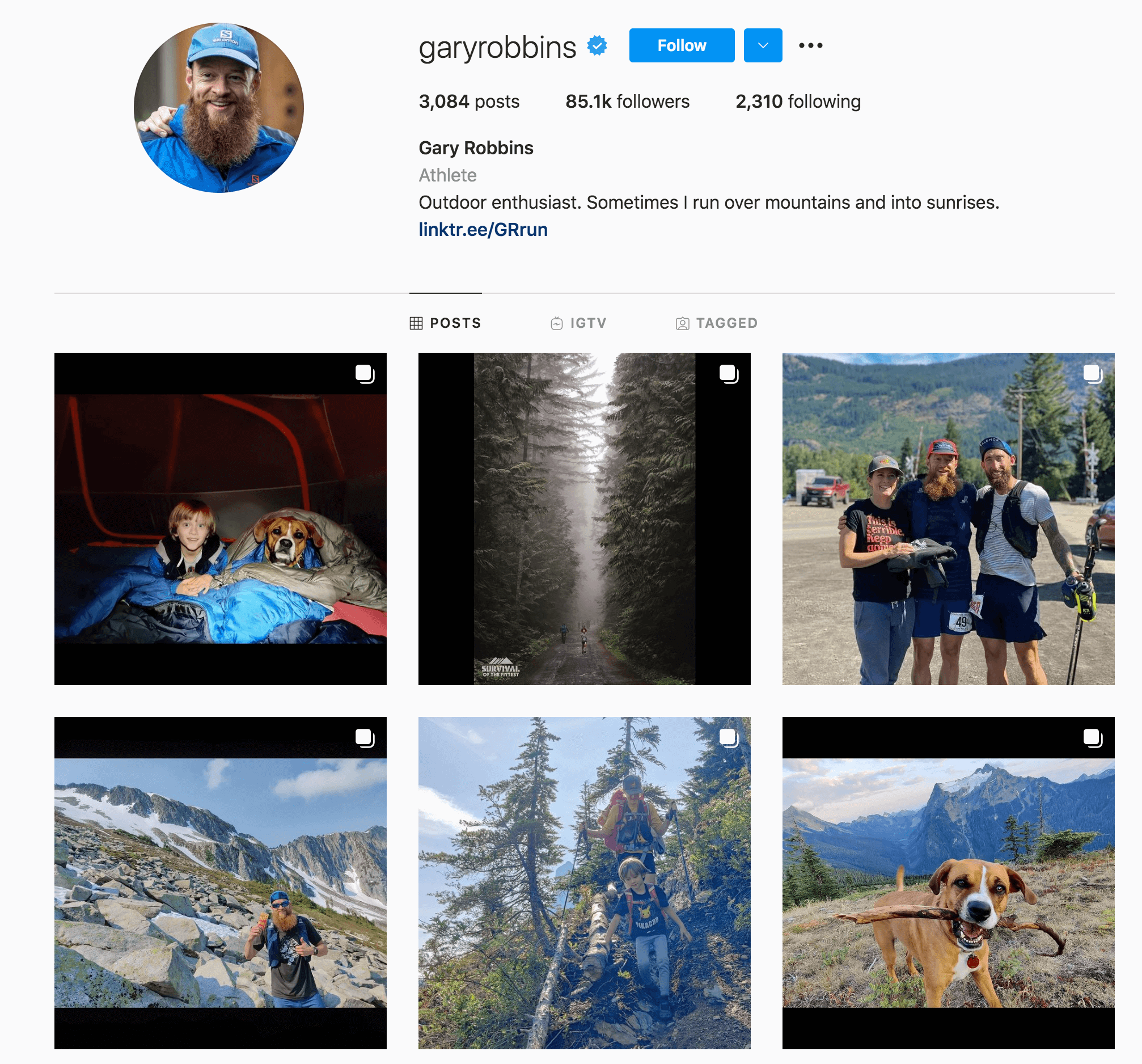 Gary Robbins Instagram Profile