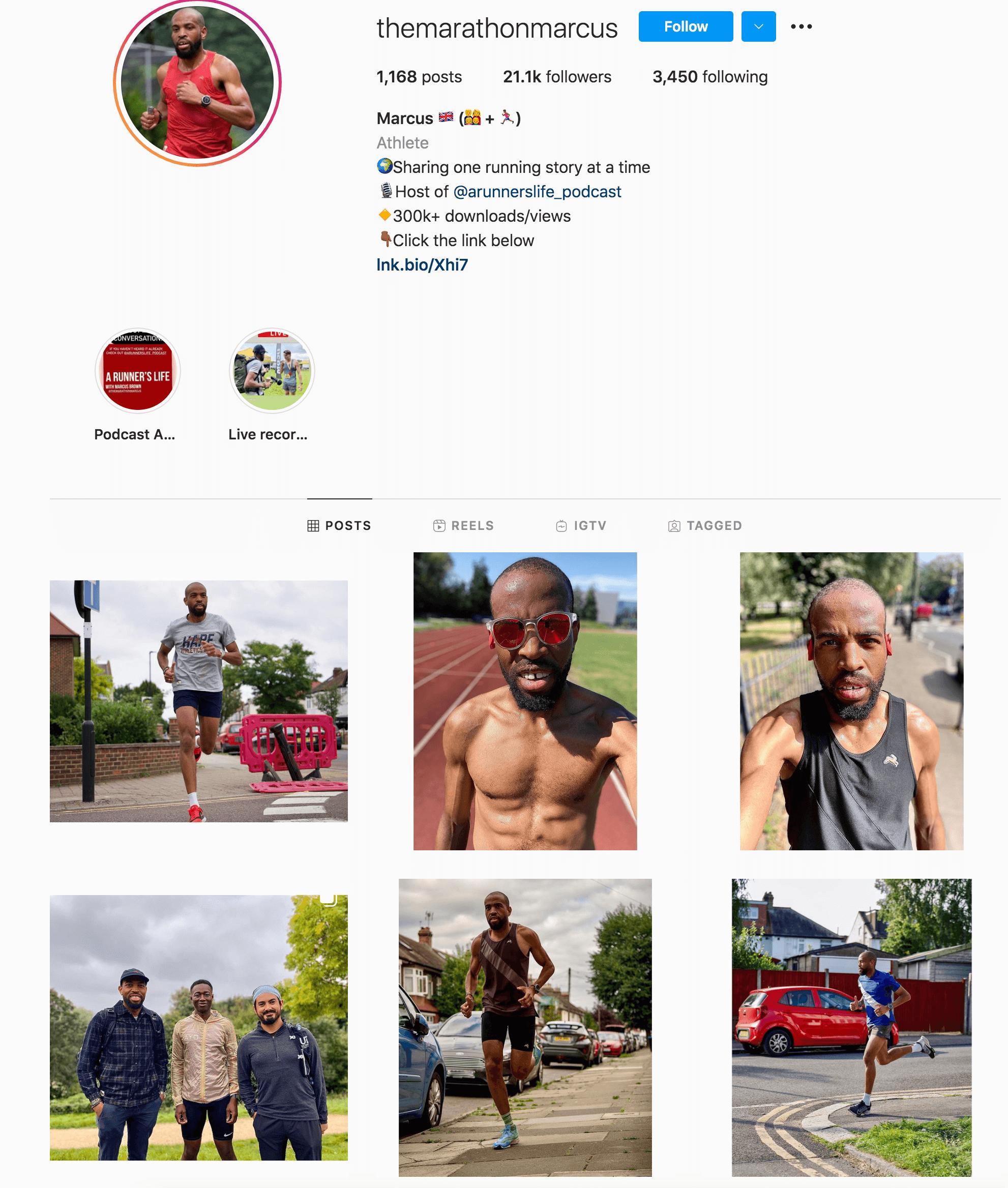 Marcus Brown Instagram Profile